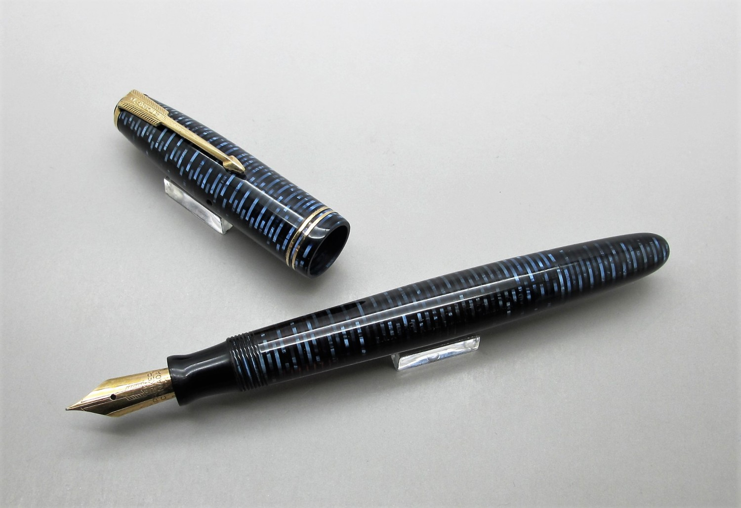 Parker Vacumatic Junior Celuloide Azul
