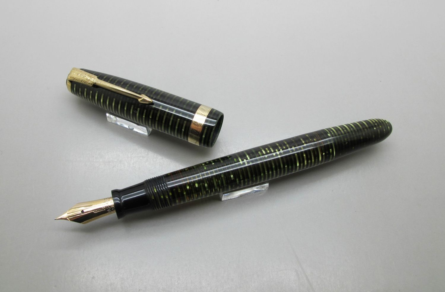 Parker Vacumatic Major Celuloide Verde