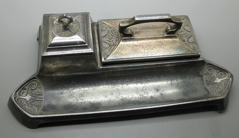 Reposaplumas Metal Plateado